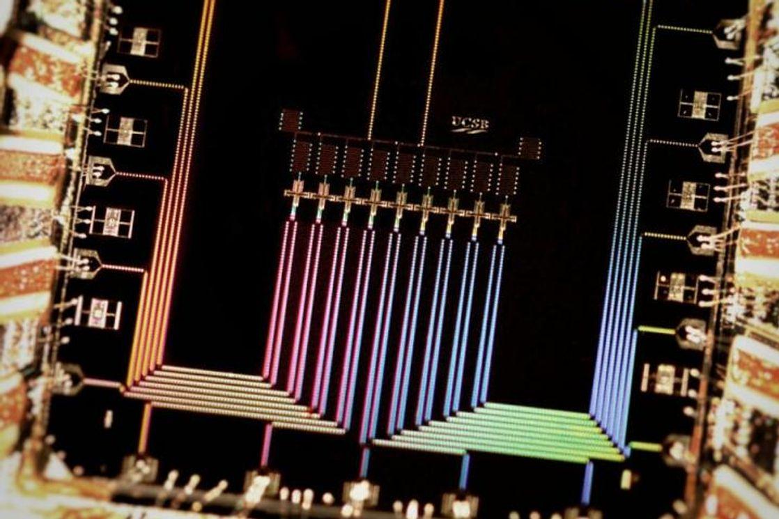 9-кубитный процессор группы Мартиниса, созданный в 2015 году